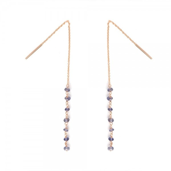 Long stones earrings
