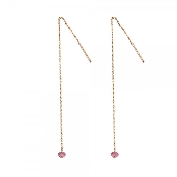 1 stone long earrings