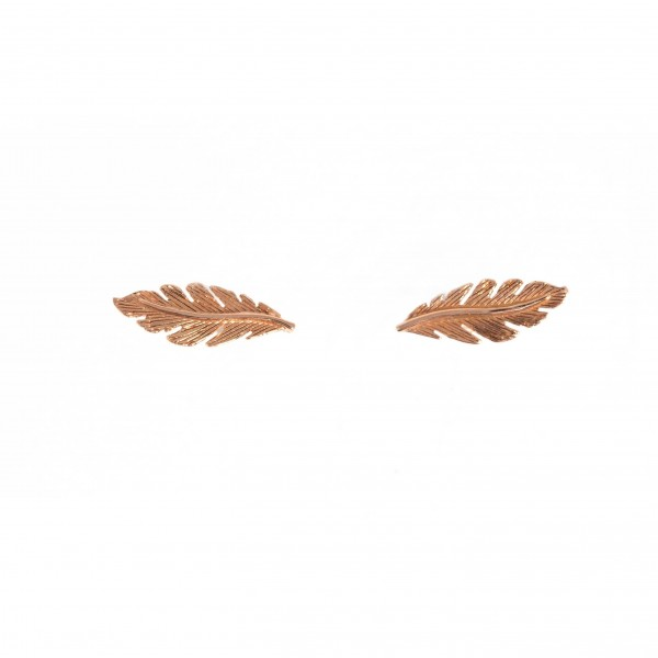 Feathers stud earrings