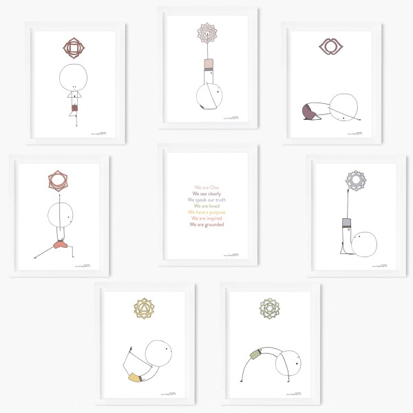 Set of 8 Chakra Art Prints