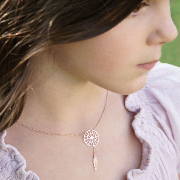 Collier Tiny Sweet Web Dreamcatcher