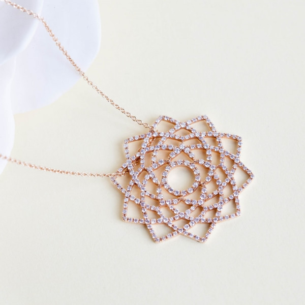 Sahasrara diamond necklace