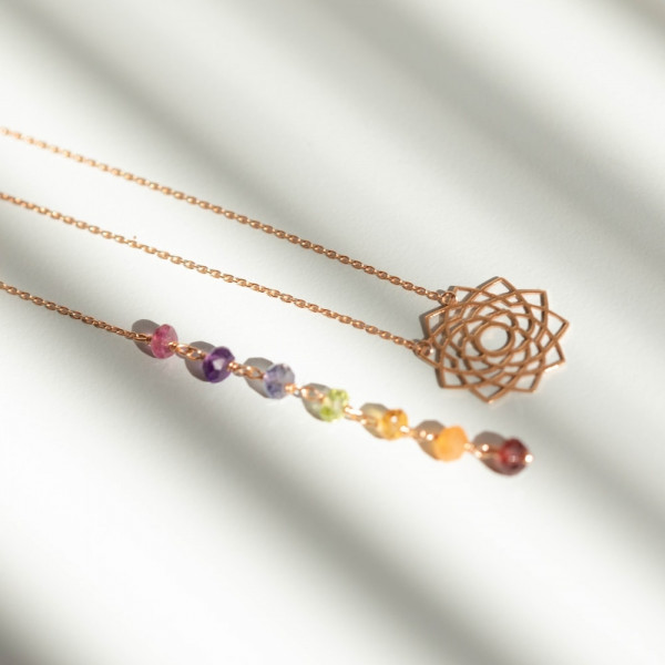 Chakra necklace with 7 Stones