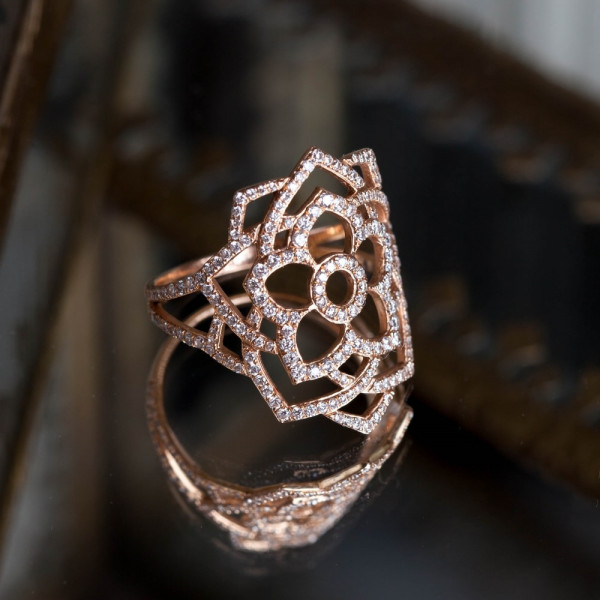 Sahasrara diamond ring