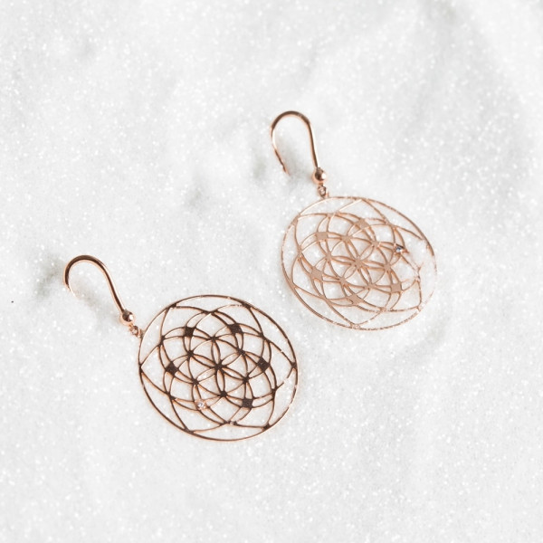 Boucles d'oreilles Flower of Life