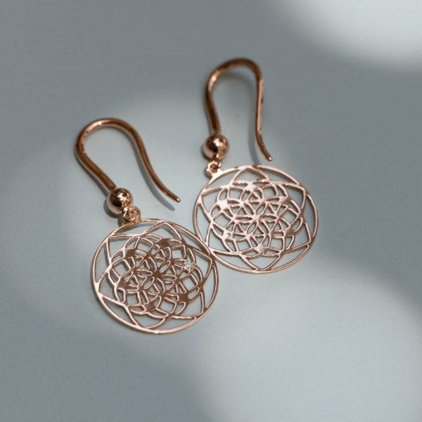 Boucles d'oreilles Flower of Life Tiny