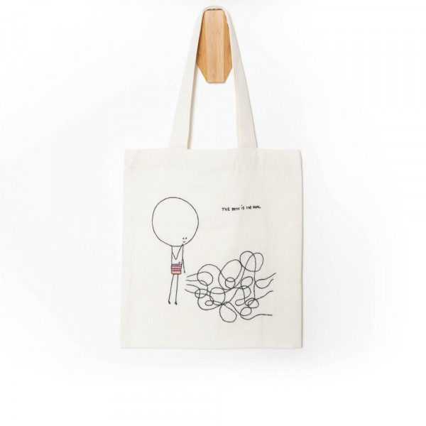 The Path is the Goal Tote Bag