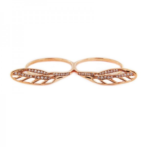 Diamonds dragonfly rings