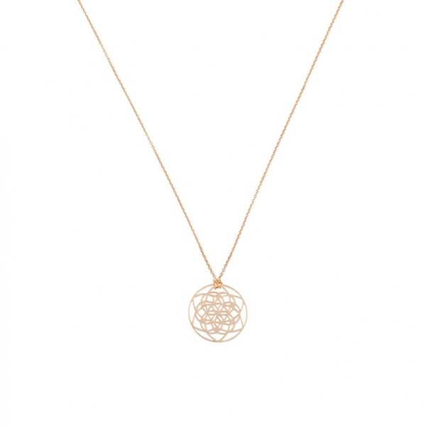 Tiny Flower of life necklace