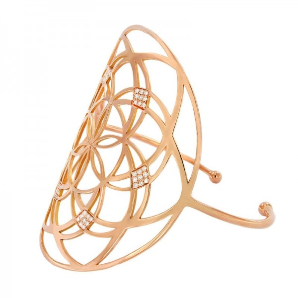 Bracciale di diamanti Flower of life