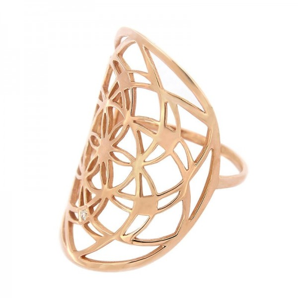 Bague Flower of life