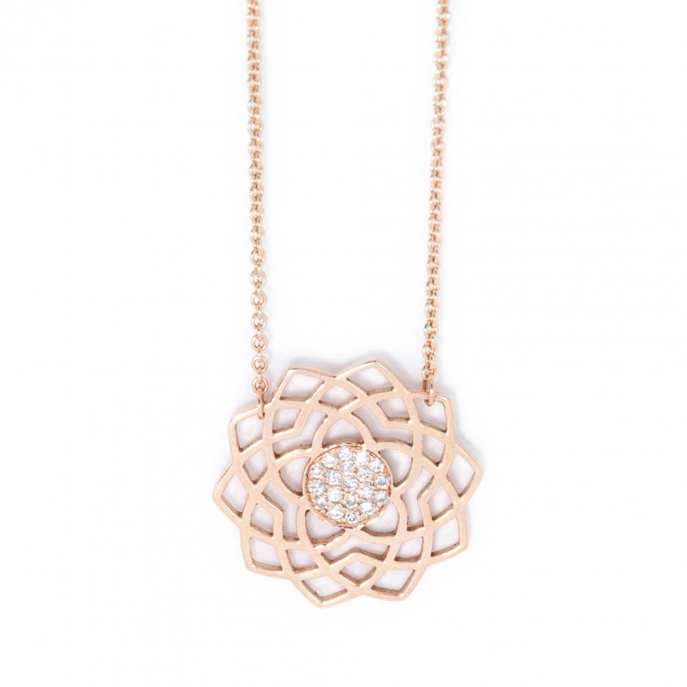 Sahasrara paved diamonds necklace
