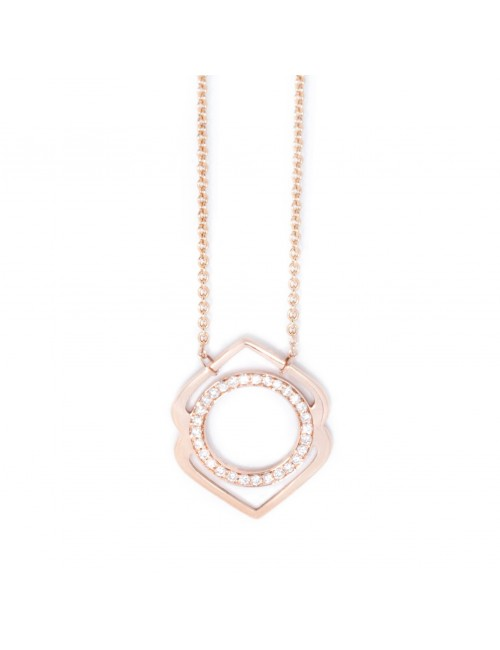 Ajna paved diamonds necklace