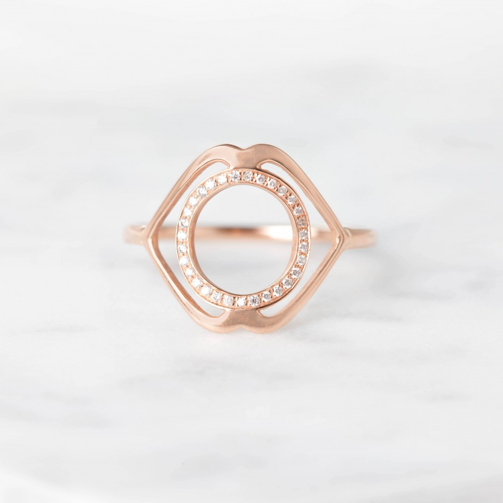 Ajna paved diamonds ring