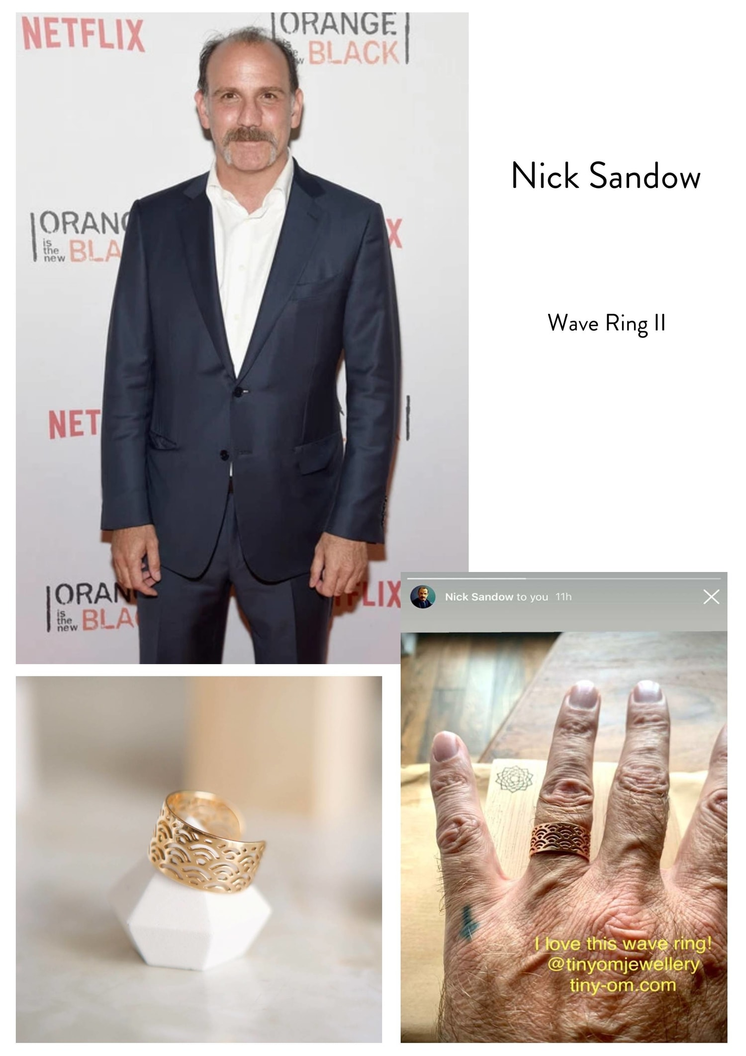 nick sandow wave ring tinyom